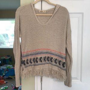Hollister knit hoodies sweater